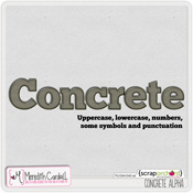 Concrete Alpha digital scrapbook FB Freebie