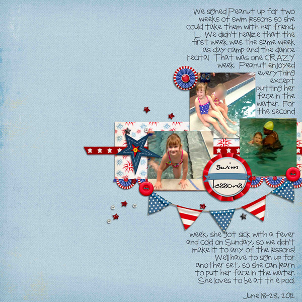 Layout by JLJDesigns using Fabulous Fourth digital scrapbook kit by Meredith Cardall
