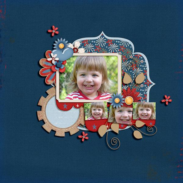 Layout by Lenushenka using Fabulous Fourth digital scrapbook kit by Meredith Cardall