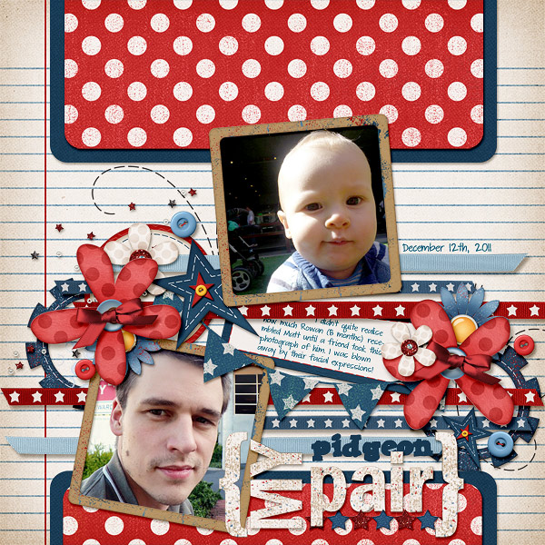 Layout by aurian using Fabulous Fourth digital scrapbook kit by Meredith Cardall