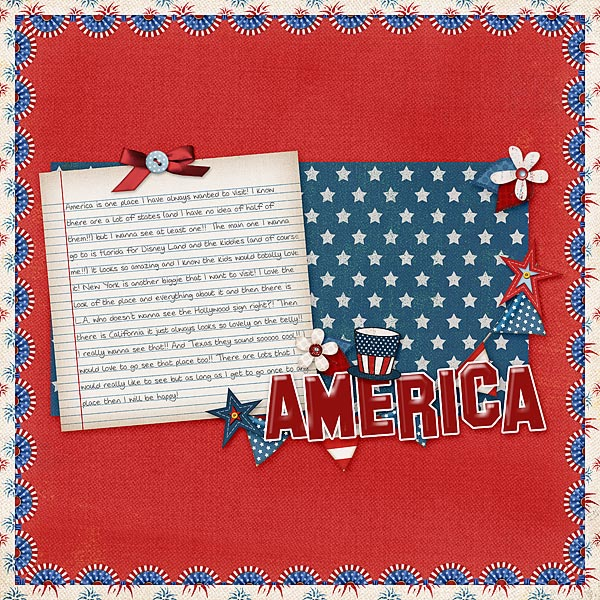 Layout by hslater using Fabulous Fourth digital scrapbook kit by Meredith Cardall