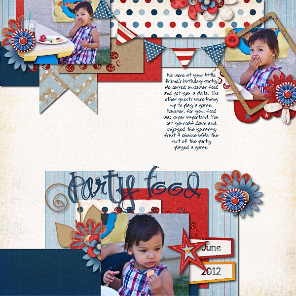Layout by navaja77 using Fabulous Fourth digital scrapbook kit by Meredith Cardall