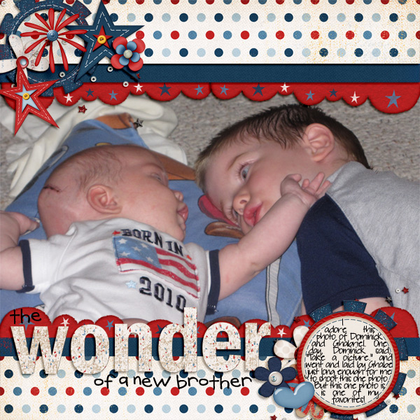 Layout by ta_merkins using Fabulous Fourth digital scrapbook kit by Meredith Cardall