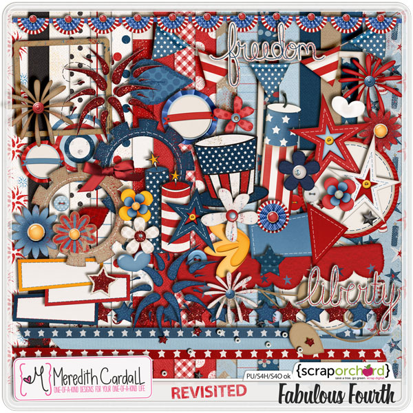 Fabulous Fourth digital scrapbook kit by Meredith Cardall at ScrapOrchard