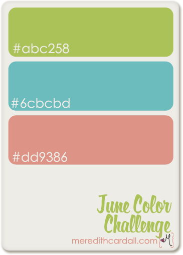 June 2012 color digital scrapbook challenge