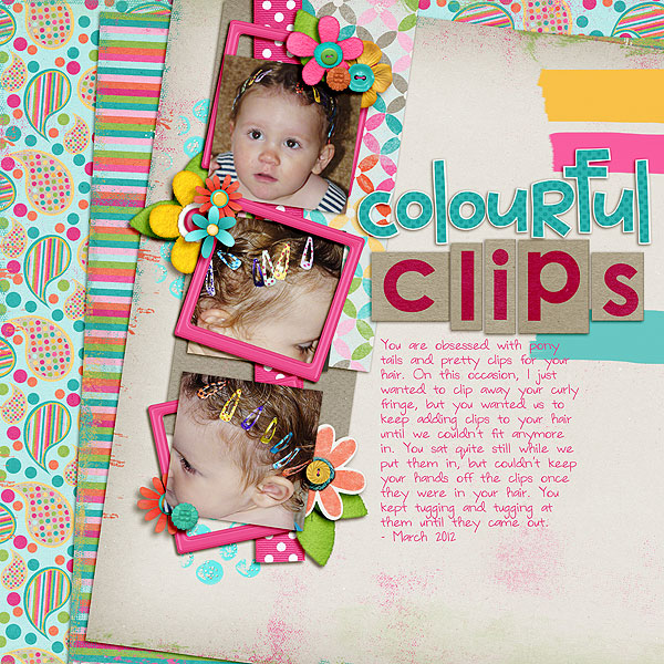 Digital Scrapbook - Colorful Clips Melscrap | Meredith Cardall