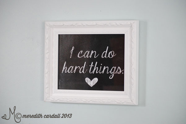 Digital Scrapbook Printable - Do Hard Things | Meredith Cardall