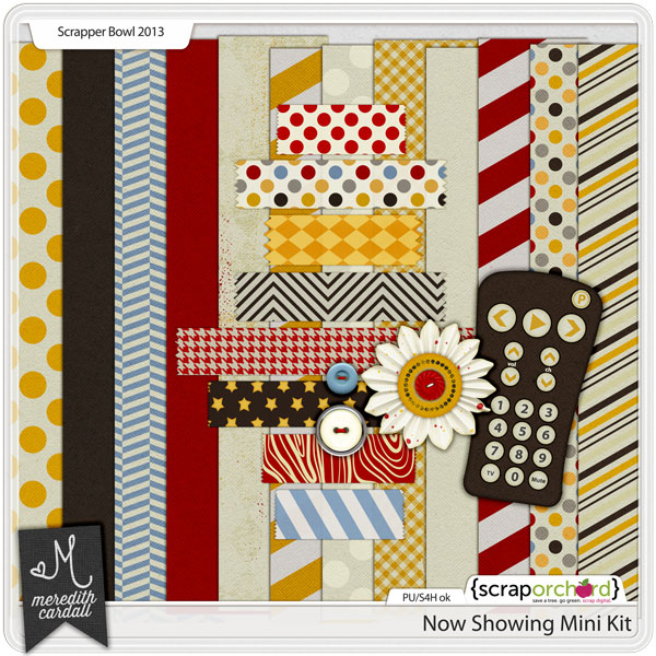 Digital Scrapbook Mini-kit - Now Showing | Meredith Cardall