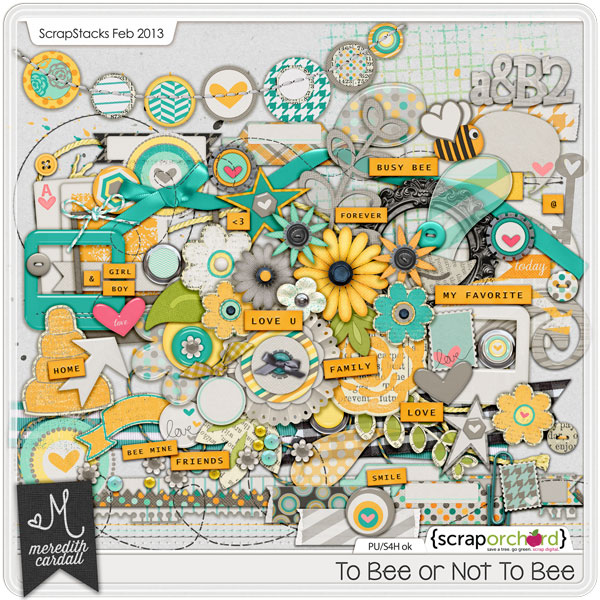 Digital Scrapbook Elements - To Bee or Not To Bee | Meredith Cardall