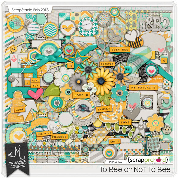 digital scrapbook kit - To Bee or Not To Bee | Meredith Cardall